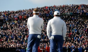 A Ryder Cup crowd at Gleneagles, Scotland, in 2014