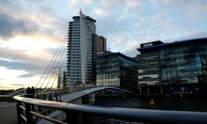 'There is no doubt that many of the top jobs remain in the capital. But for how long?' BBC buildings in Salford.