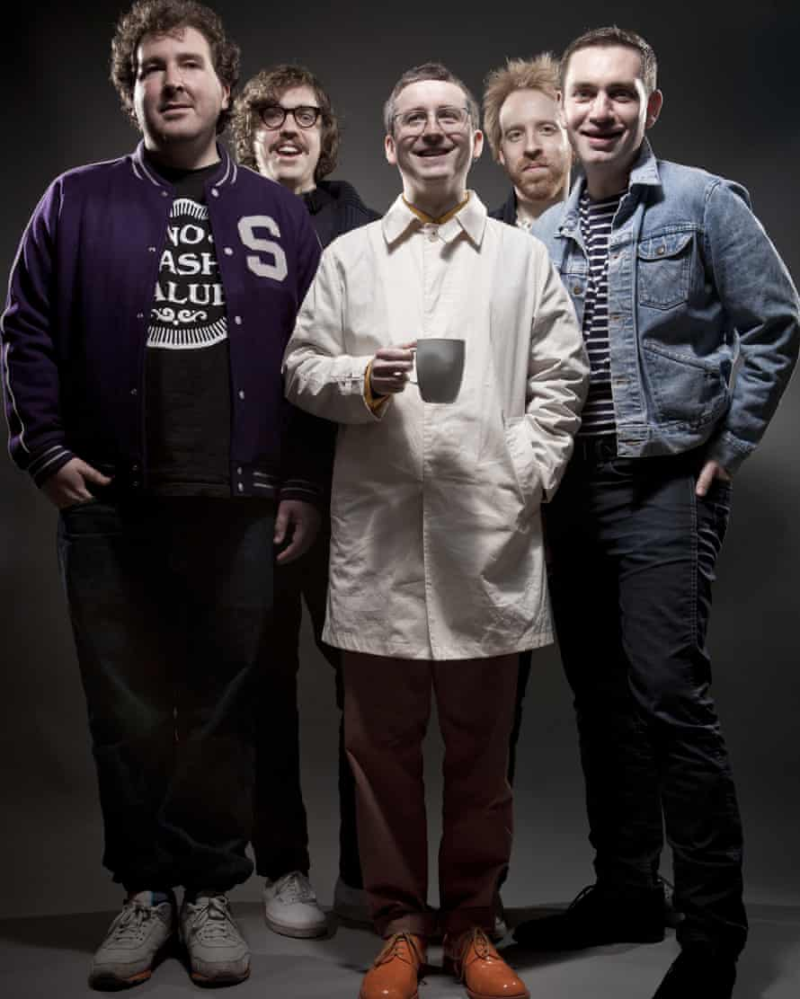 Chips with everything: Joe Goddard and his fellow band members in Hot Chip.