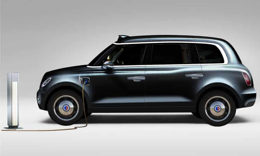 The prototype electric London black cab from The London Taxi Company