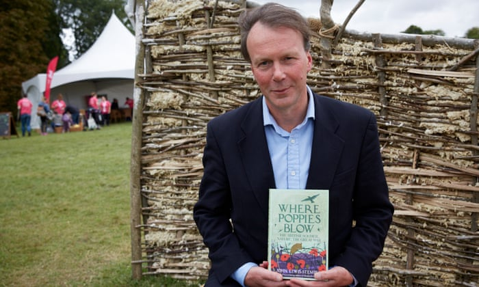 John Lewis-Stempel, with his new book, Where Poppies Blow