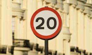 A 20mph sign