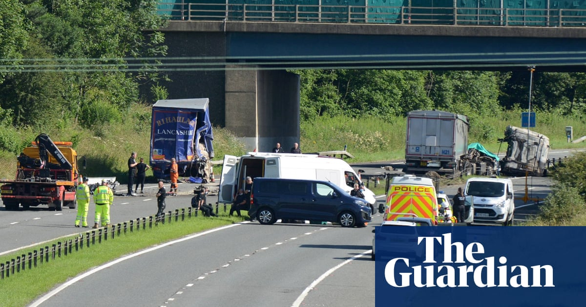 Three people die in six-vehicle rush-hour collision on the A1(M)