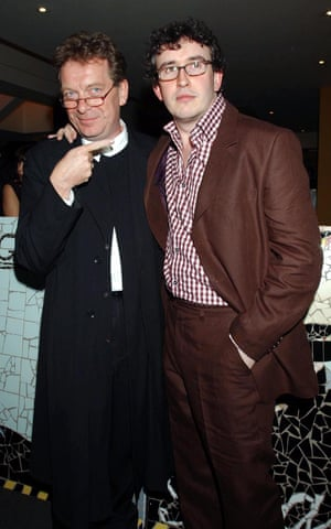 Tony Wilson (left) with Steve Coogan at the premiere of 24 Hour Party People in 2002.