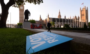 A Vote Remain poster lies discarded on the ground in London's Parliament Square after the EU referendum.