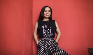 Musician Mai Khoi at a Hanoi cafe on 19 August