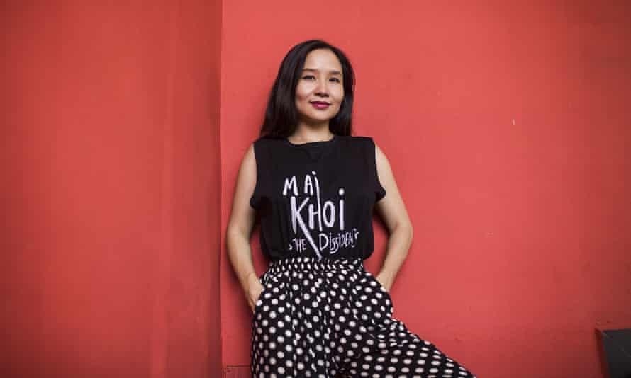 Musician Mai Khoi at a Hanoi cafe on 19 August