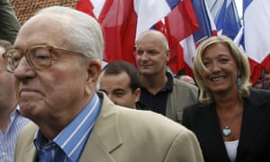 Jean-Marie Le Pen and Marine Le Pen in August 2010.<br> <br>