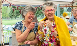 Doppelgangers? … Maggie and Prue on The Great British Bake Off.