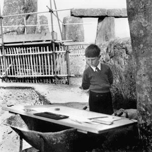 Richard Woodman-Bailey at Stonehenge in 1958.