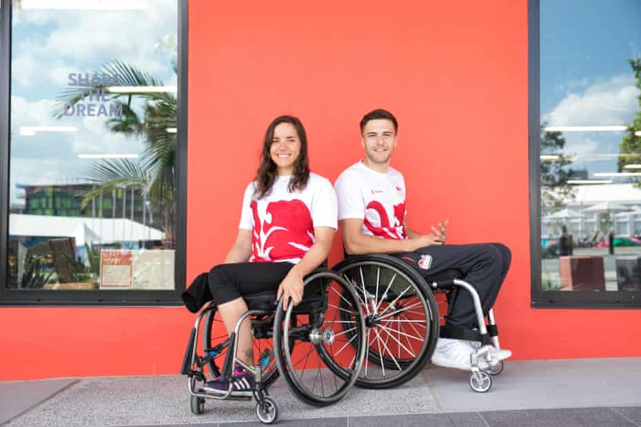 Jade Jones-Hall and husband Callum Hall from England at the athletes' village.