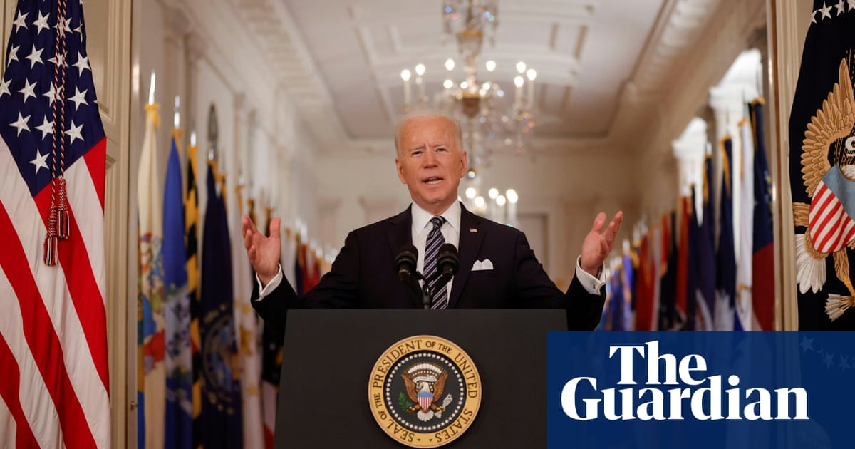 Joe Biden pledges vaccine eligibility for all US adults by 1 May in nationwide address – video