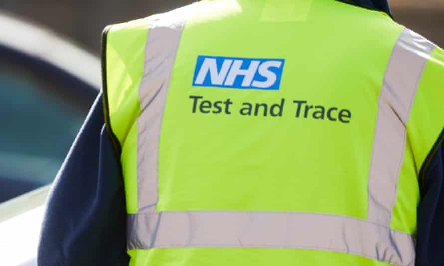 NHS test and trace logo on high-vis jacket