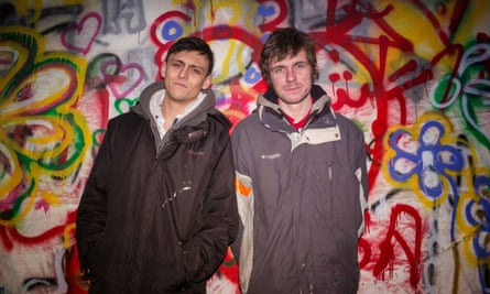 Joe Robertson and Joe Murphy, who founded the Good Chance theatre in Calais.