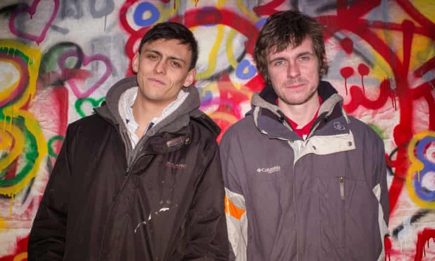 Joe Robertson and Joe Murphy, founders of the Good Chance Theatre company in Calais.