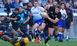 Beauden Barrett will have to stop.