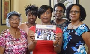 Five members of the Sistahs on the Reading Edge book club, from left: Katherine Neal, Georgia Lewis, Lisa Renee Johnson, Allisa Carr and Sandra Jamerson.