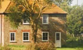 Holiday cottage on Horsey Island, Essex, UK