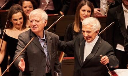 Jasper Parrott and (right) Vladimir Ashkenazy