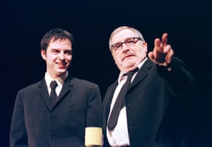 Andrew Scott and Brian Cox in Dublin Carol at the Royal Court, February 2000