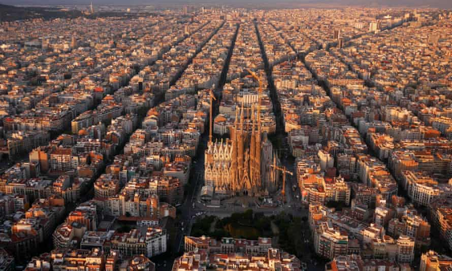 The Eixample district of Barcelona.