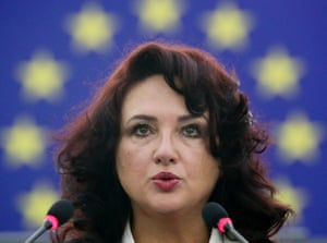 Strasbourg, FranceThe Commissioner for Equality Helena Dalli delivers a speech during the European Parliament plenary session in Strasbourg.