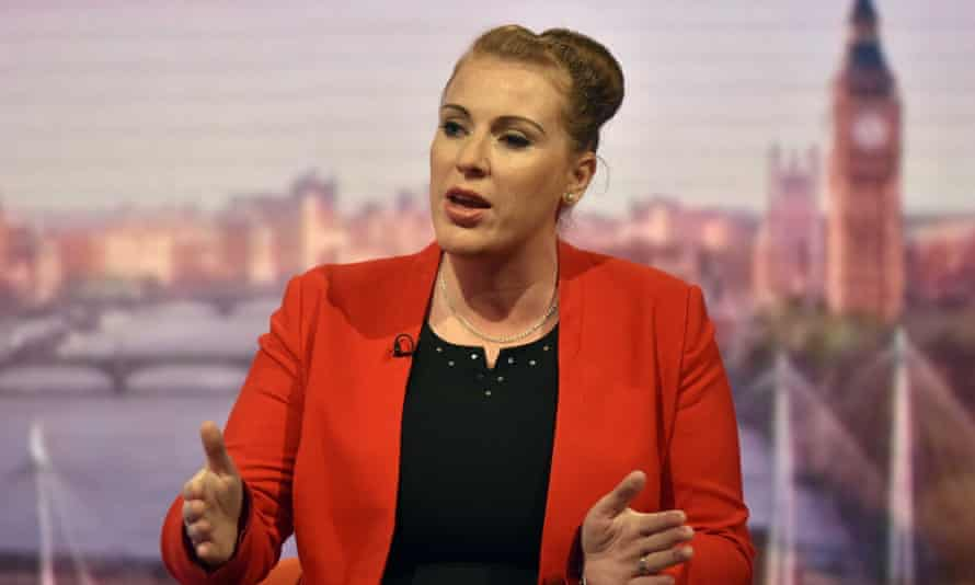 Shadow education secretary Angela Rayner appearing on the Andrew Marr Show
