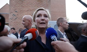 National Front party leader, Marine Le Pen.