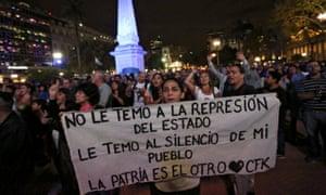 Protest in Buenos Aires against Mauricio Macri