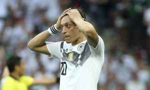Mesut Özil during Germany's shattering defeat by Mexico.