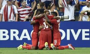 Panama celebrate.