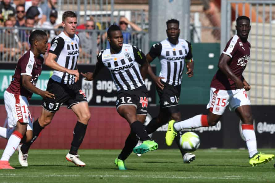 Angers' Malian midfielder Lassana Coulibaly vies for the ball against Bordeaux in Ligue 1's opening fixture last weekend