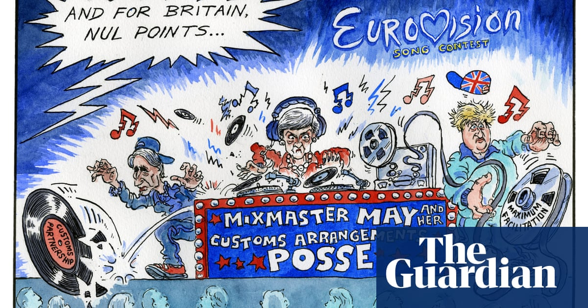 Image result for UK and Eurovision Song Contest cartoon
