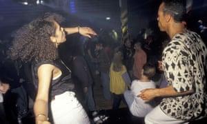 Dancers at the Hacienda, 1990.
