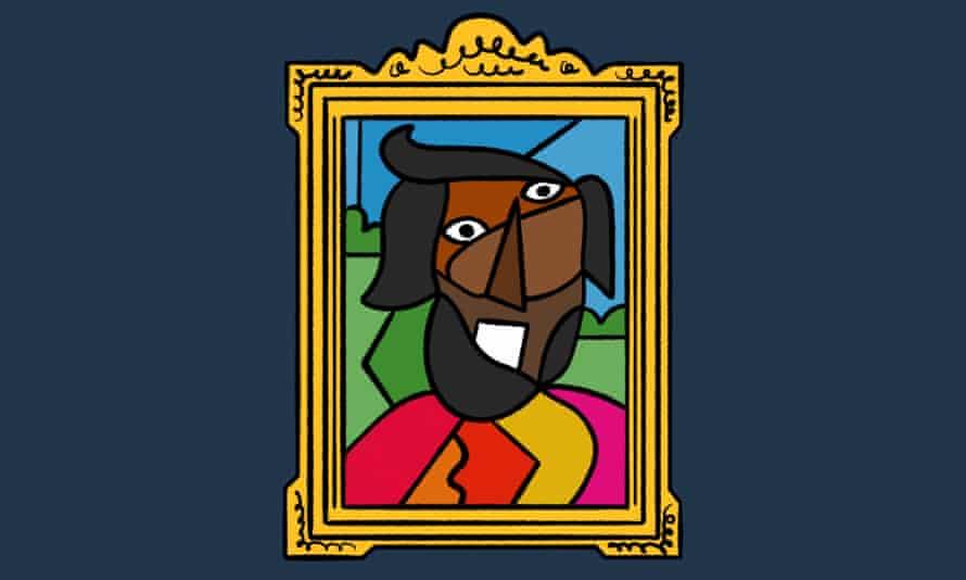Illustration of Romesh as artwork
