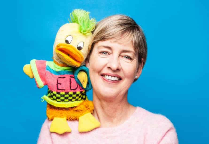 'Edd once threw a huge pair of knickers at Tom Jones': Christina Brown with Edd the Duck.