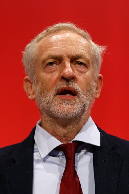 Portrait of Jeremy Corbyn