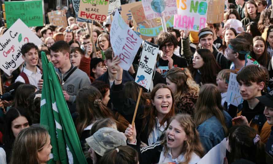 Protesters in Brighton.