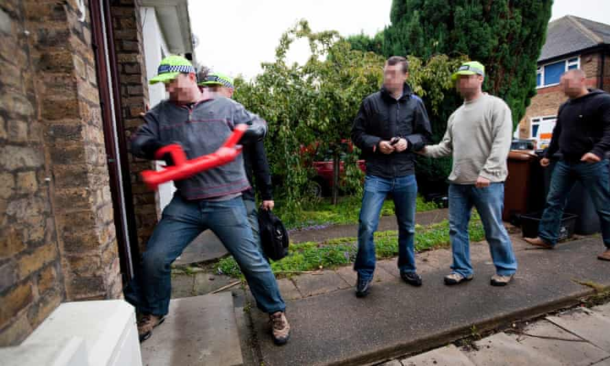 a police raid in London in 2011.