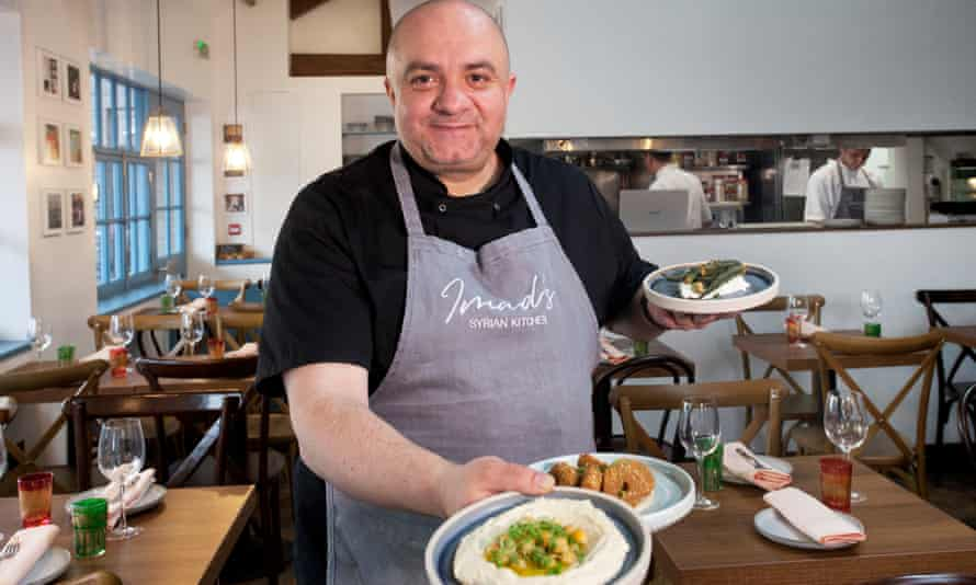 Imad Alarnab at his new restaurant in Carnaby Street, central London.