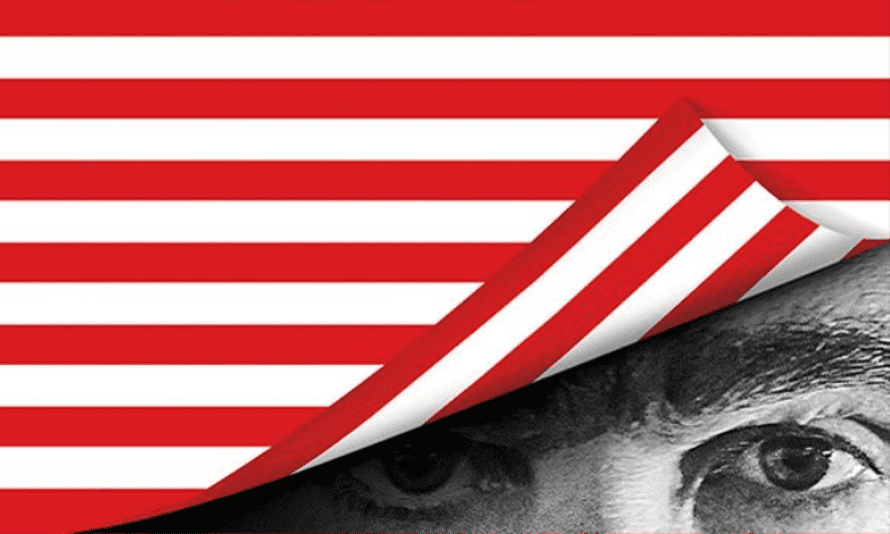 The mysterious poster for Sacha Baron Cohen's new series, Who Is America?