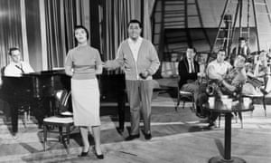 Keely Smith and Louis Prima rehearsing in 1959.