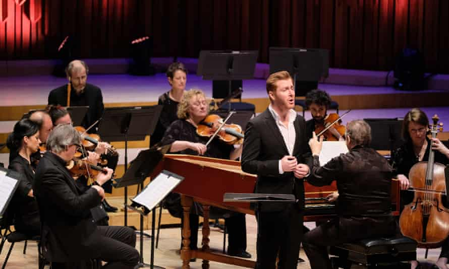 'Countertenor Tim Mead with the Academy of Ancient Music at the Barbican.