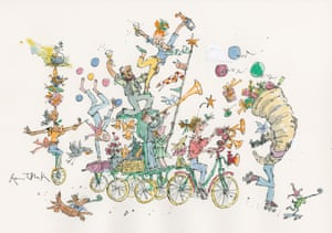 Quentin Blake's wondrous offering to the Guardian's festive project The 12 cartoons of Christmas