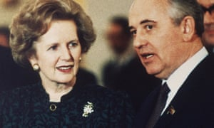 Agents for change … Margaret Thatcher and Mikhail Gorbachev in 1987.