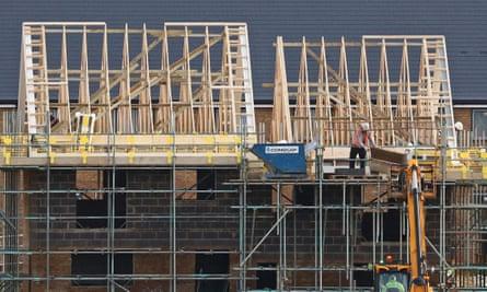Houses being constructed in Ebbsfleet, Kent.