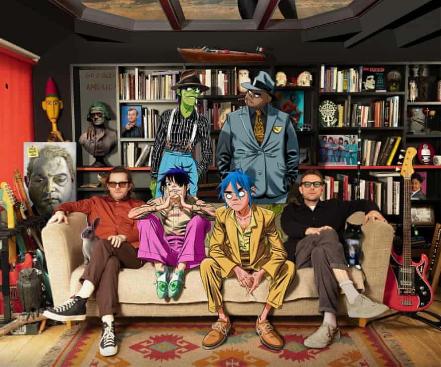 All together now ... Gorillaz 2020.