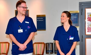 Princess Sofia's first day at work at the Sophiahemmet hospital in Stockholm