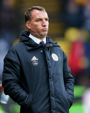 Leicester City's new manager Brendan Rodgers sees his team lose.