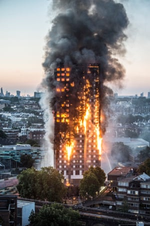 Screaming people were trapped as a blaze engulfed the 27 storey Grenfell Tower in Notting Hill, London on 14 June